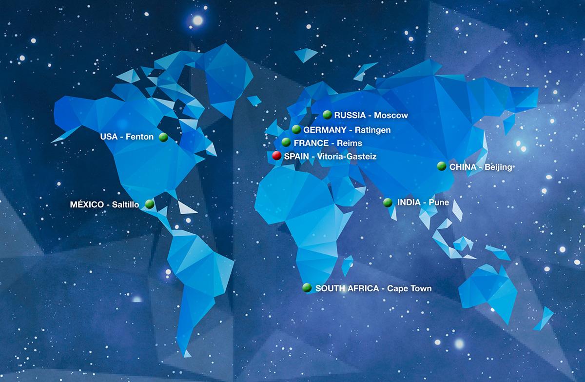 Distribution centers around the world